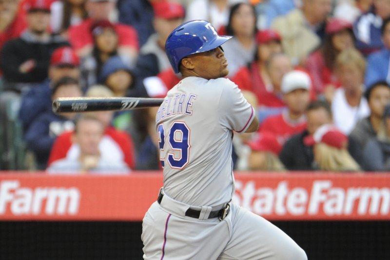 Texas Rangers' Adrian Beltre. Photo by Lori Shepler/UPI.