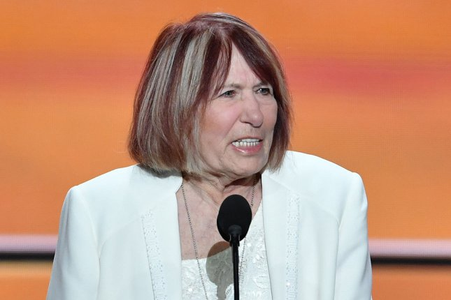 Patricia Smith, mother of Sean Smith who was killed in Benghazi, speaks during the Republican National Convention in Cleveland last month. Patricia Sith has filed suit against Hillary Clinton, who she blames personally for her son's death. Photo by Kevin Dietsch/UPI