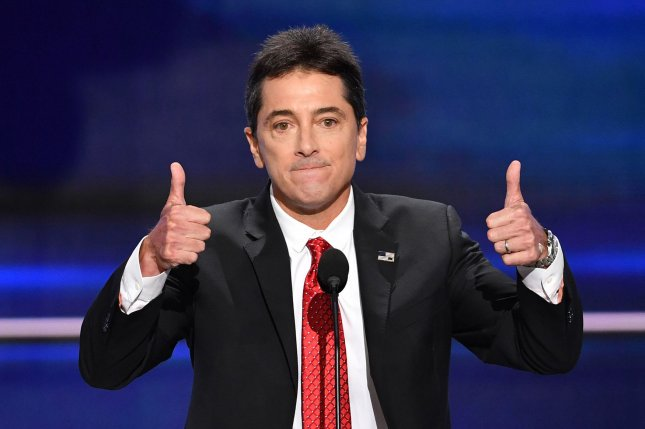 Scott Baio speaks at the Republican National Convention on July 18. The actor and other Happy Days stars came together at Erin Moran's memorial service Wednesday. File Photo by Kevin Dietsch/UPI