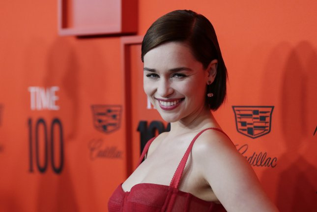 Emilia Clarke passed on Dakota Johnson's role in Fifty Shades of Grey because she already felt pigeonholed by her nudity on Game of Thrones. File Photo by John Angelillo/UPI