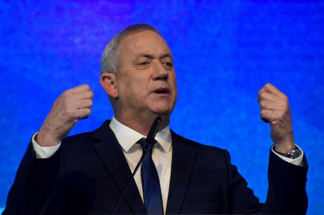 Benny Gantz, leader of the Israeli Blue and White Party, was given another chance Monday to form a coalition government in Israel. File Photo by Debbie Hill/UPI
