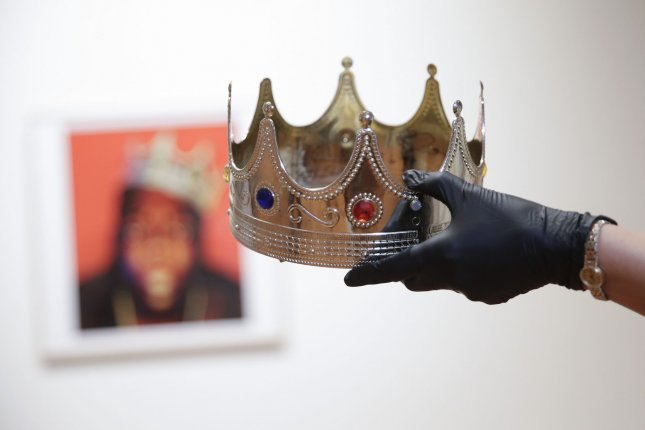 The crown worn by The Notorious B.I.G. in 1997 sold for nearly $600,000 at a Sotheby's hip-hop auction. File Photo by John Angelillo/UPI