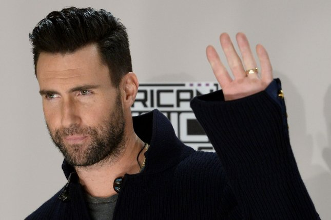 Adam Levine of Maroon 5 appears backstage during the 2016 American Music Awards on November 20. Levine will be the next celebrity to recieve a star on the Hollywood Walk of Fame. File Photo by Jim Ruymen/UPI
