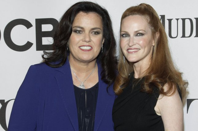Rosie O'Donnell and Michelle Rounds arrive on the red carpet at the 68th Tony Awards in New York City on June 8, 2014. Rounds died this week at the age of 46. File Photo by John Angelillo/UPI
