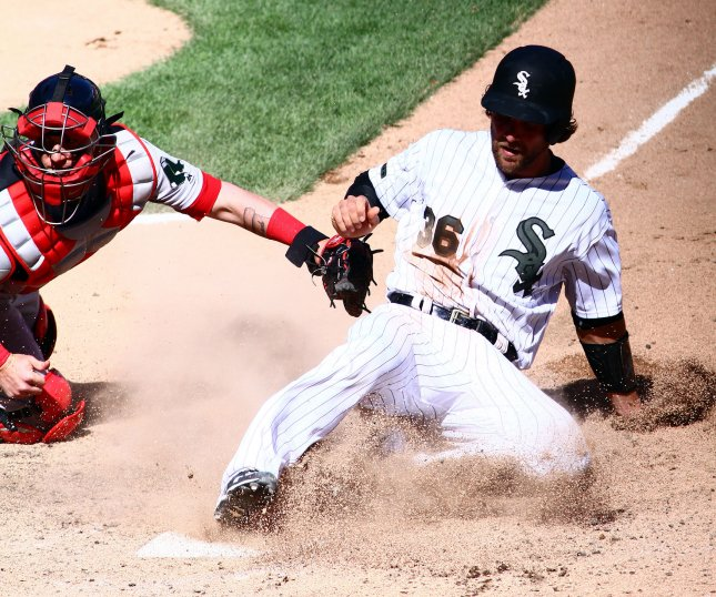 Kevan Smith and the Chicago White Six take on the Minnesota Twins on Tuesday. Frank Polich/UPI