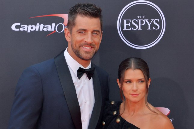 NFL quarterback Aaron Rodgers and former race car driver Danica Patrick have been dating since January 2018. File Photo by Jim Ruymen/UPI