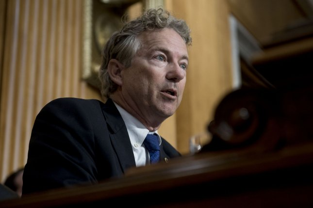 Sen. Rand Paul blocked a Democratic resolution protecting whistle-blowers in favor of proposing his on bill on the issue.  File Photo by Leigh Vogel/UPI
