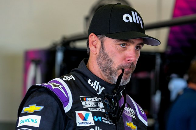 Jimmie Johnson was forced to miss the first race of his Cup Series career when he tested positive for COVID-19 on Friday. File Photo by Mike Gentry/UPI