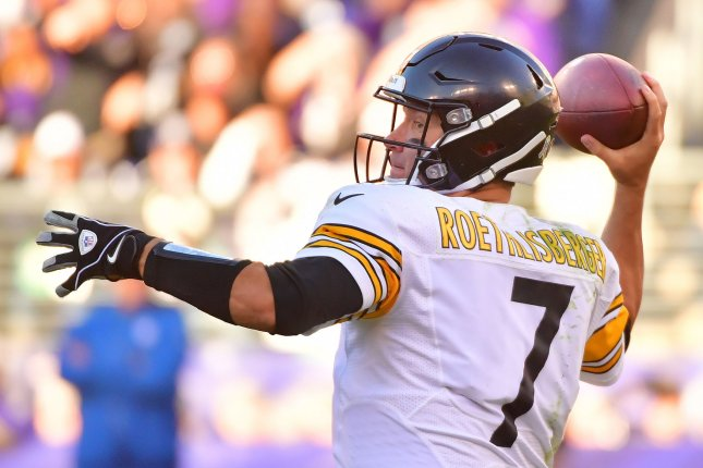 Pittsburgh Steelers quarterback Ben Roethlisberger tossed three touchdowns in the Steelers' season-opening victory over the New York Giants. File Photo by Kevin Dietsch/UPI