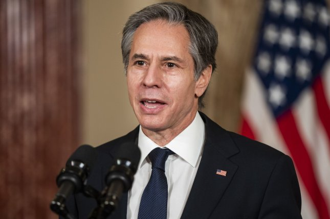 U.S. Secretary of State Antony Blinken reiterated Monday that the United States stands with the people of Myanmar after their military seized control of the country early this month in a coup. Photo by Jim Lo Scalzo/UPI