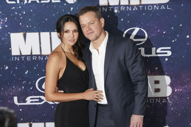 Matt Damon discussed his four daughters with his wife, Luciana Barroso, on Good Morning America. File Photo by John Angelillo/UPI
