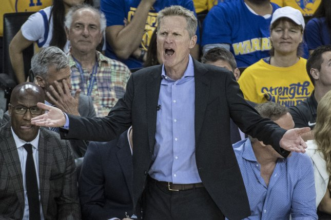Golden State Warriors head coach Steve Kerr says watching players transform their careers has made this season fun, despite the team's terrible record. Photo by Terry Schmitt/UPI