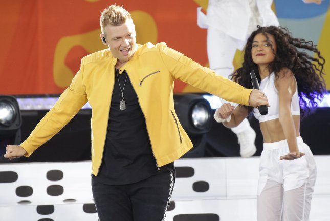 Nick Carter and the Backstreet Boys perform on Good Morning America at the Rumsey Playfield/SummerStage in Central Park in New York City on July 13, 2018. The singer turns 40 on January 28. File Photo by John Angelillo/UPI
