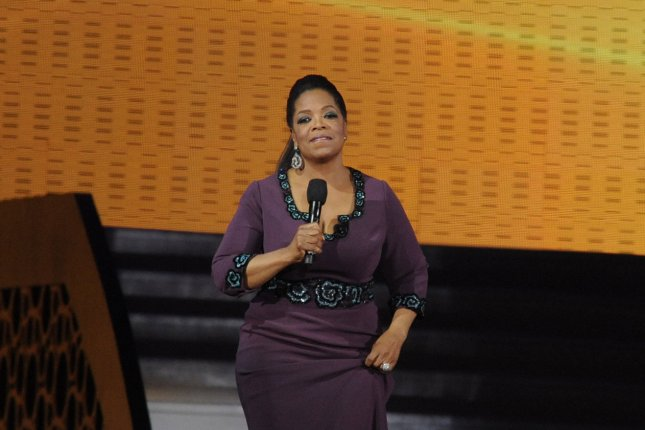 "Oprah Winfrey talks to the audience during the taping of ""Surprise Oprah! A Farewell Spectacular"" at the United Center in Chicago on May 17. 2011. The show aired over two days, May 23 and 24, and her final episode aired May 25. File Photo by David Banks/UPI"