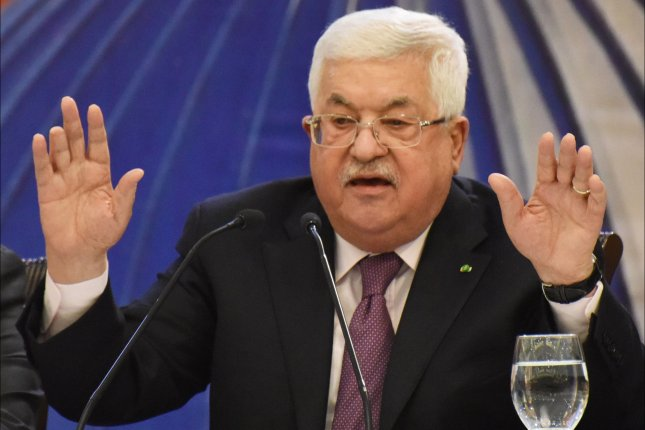 Palestinian President Mahmoud Abbas speaks out against U.S. President Donald Trump's peace plan on January 28, 2019, saying the conspiracy deal will not pass. File Photo by Debbie Hill/UPI