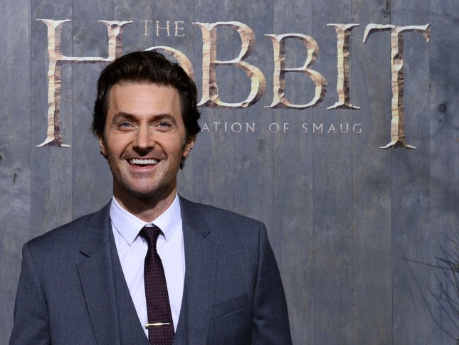 Cast member Richard Armitage attends the premiere of The Hobbit: The Desolation of Smaug at TCL Chinese Theatre in the Hollywood section of Los Angeles on December 2, 2013. The dwarves, along with hobbit Bilbo Baggins and wizard Gandalf the Grey, continue their quest to reclaim their ancient homeland, Erebor, from Smaug. Bilbo Baggins posseses a powerful and magical ring. The movie is another Hobbit story in the tradition of the Lord of the Rings trilogy from novelist J.R.R. Tolkien. UPI/Jim Ruymen