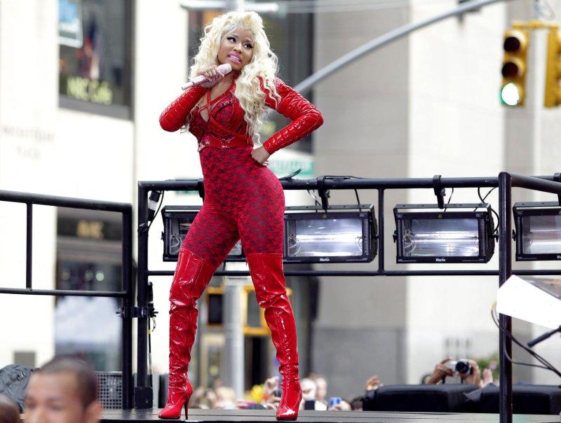 Nicki Minaj performs on the NBC Today Show at Rockefeller Center in New York City on August 14, 2012. UPI/John Angelillo