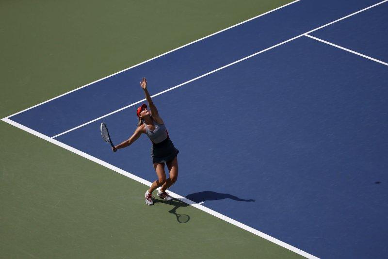 Maria Sharapova advanced to the 4th round at the Australian Open. File photo by UPI/John Angelillo.