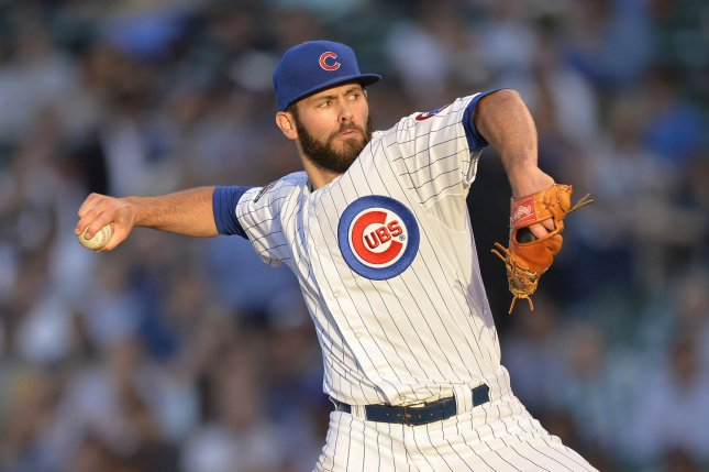 Chicago Cubs starting pitcher Jake Arrieta. UPI/Brian Kersey