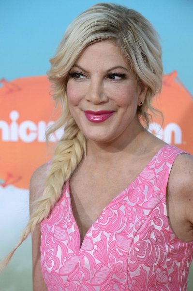 Tori Spelling at the Nickelodeon Kids' Choice Awards on March 12. File Photo by Jim Ruymen/UPI