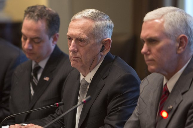 U.S. Secretary of Defense James Mattis told lawmakers the Trump Administration's planned defense budget boost is necessary to strengthen the military to meet future threats. Pool photo by Chris Kleponis/UPI