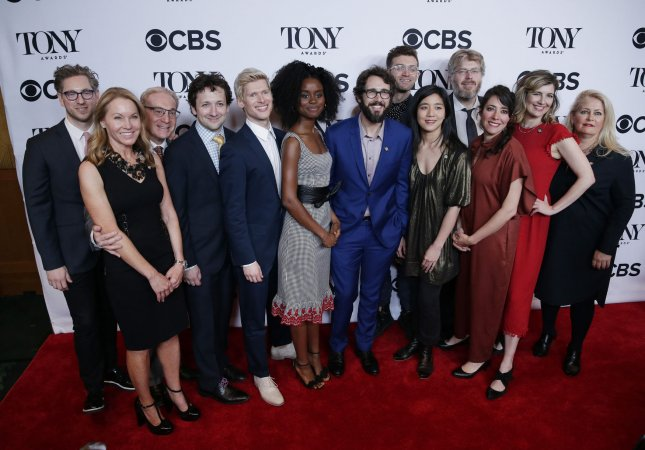 Denee Benton, Josh Groban and the rest of the cast of the Broadway Musical The Great Comet arrive on the red carpet at the 2017 Tony Awards Meet the Nominees press event on May 3 in New York City. The show is set to close on Sept. 3. File Photo by John Angelillo/UPI