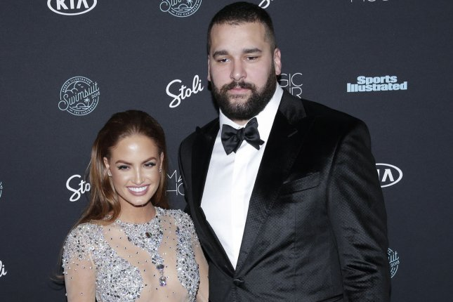 Haley Kalil and Matt Kalil arrive on the red carpet at the Sports Illustrated Swimsuit 2018 Launch Event at Magic Hour at Moxy Times Square on February 14 in New York City. Photo by John Angelillo/UPI