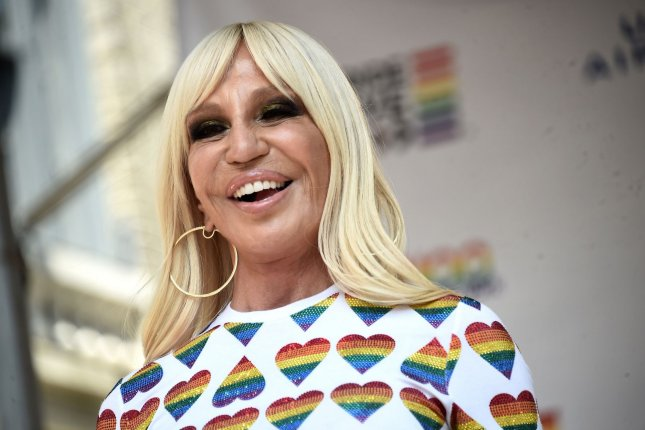 Donatella Versace apologized to the Chinese people following a labeling controversy. File Photo by Steve Ferdman/UPI