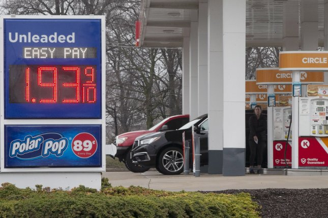 Oil prices sank to their lowest level in nearly two decades Monday and oil prices have plummeted by two-thirds this year. File Photo by Bill Greenblatt/UPI