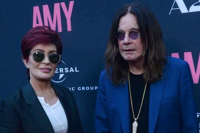 Sharon Osbourne (L) and her husband Ozzy Osbourne attend the premiere of Amy on June 25, 2015. The couple have shared throwback wedding photos on social media. File Photo by Jim Ruymen/UPI