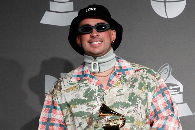 Bad Bunny has released a new song about the late Kobe Bryant titled 6 Rings. File Photo by James Atoa/UPI