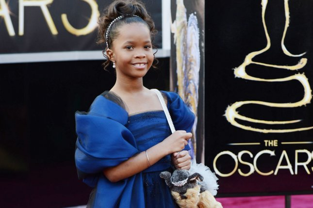 Quvenzhane Wallis arrives on the red carpet at the 85th Academy Awards at the Hollywood and Highlands Center in the Hollywood section of Los Angeles on February 24, 2013. UPI/Kevin Dietsch
