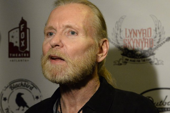 Ailing rock and blues singer Gregg Allman arrives backstage for a special concert featuring once-in-a-lifetime collaborations by friends and admirers paying tribute to Lynyrd Skynyrd's four decades of southern-based rock music in Atlanta on November 12, 2014. File Photo by David Tulis/UPI