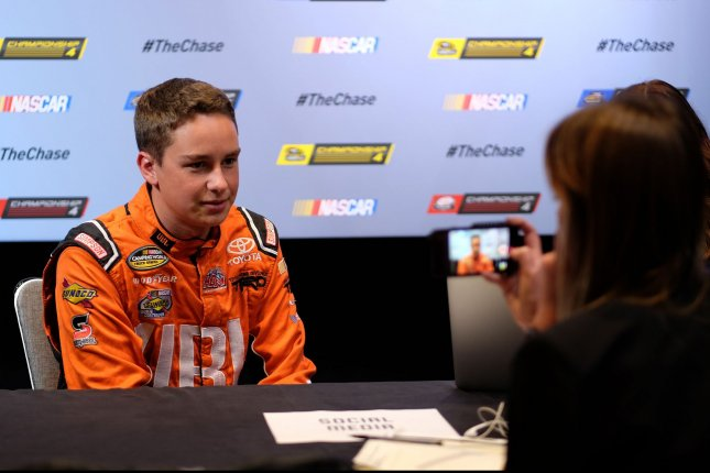 NASCAR Nationwide Series driver Christopher Bell is seen taking questions during media day at the Loews hotel in Miami Beach, Florida, on November 17, 2016. Photo By Gary I Rothstein/UPI