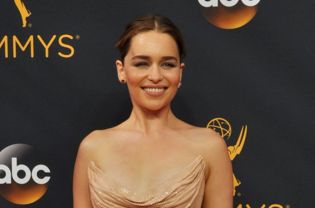 Game of Thrones actress Emilia Clarke arrives for the 68th annual Primetime Emmy Awards in Los Angeles on September 18, 2016. File Photo by Christine Chew/UPI