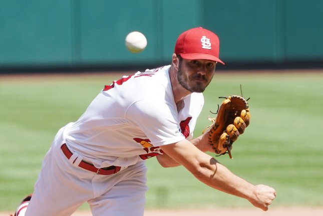 St. Louis Cardinals starting pitcher Dakota Hudson has helped his squad earn victories in six consecutive starts. Photo by Bill Greenblatt/UPI