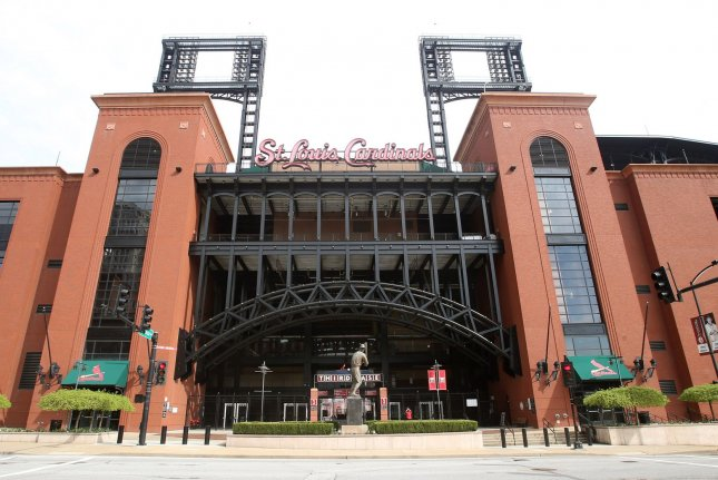 Busch Stadium sat empty on what was supposed to be opening day Thursday in St. Louis. Photo by Bill Greenblatt/UPI