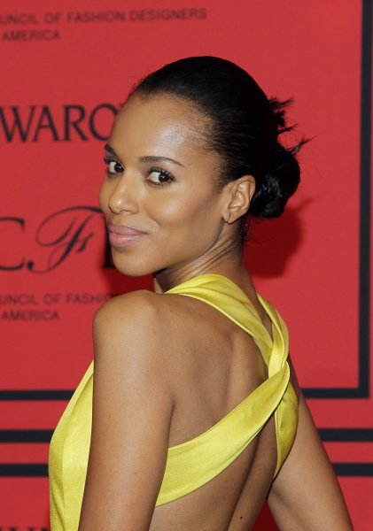 Kerry Washington arrives on the red carpet at the 2013 CFDA Fashion Awards at Lincoln Center's Alice Tully Hall in New York City on June 3, 2013. UPI/John Angelillo