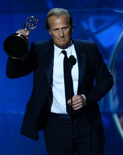 Actor Jeff Daniels wins Outstanding Lead Actor in a Drama Series for The Newsroom at the 65th annual Primetime Emmy Awards at Nokia Theatre in Los Angeles on September 22, 2013. UPI/Jim Ruymen