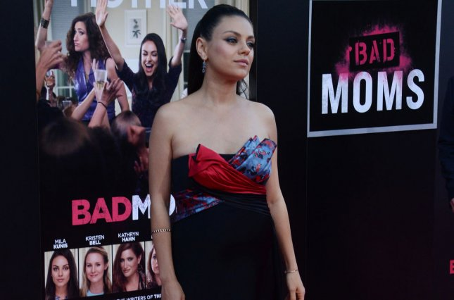 Cast member Mila Kunis attends the premiere of Bad Moms in Los Angeles in 2016. Kunis has begun work on the sequel to the film. File Photo by Jim Ruymen/UPI