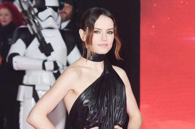 Daisy Ridley, who plays Rey in the Star Wars movies, discussed her battle scene with Adam Driver (Kylo Ren) and other details about Episode IX. File Photo by Rune Hellestad/ UPI