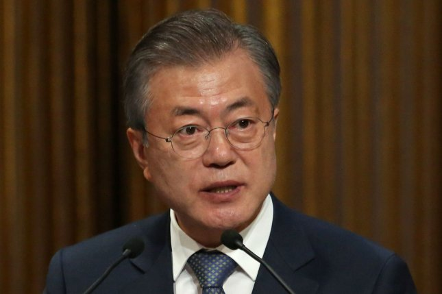 South Korean President Moon Jae-in said Wednesday job creation is a top priority in response to recession concerns. File Photo by David Silpa/UPI