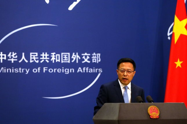 China's foreign ministry spokesman Zhao Lijian warned the United States on Monday against violating Beijing's one-China principle. Photo by Stephen Shaver/UPI