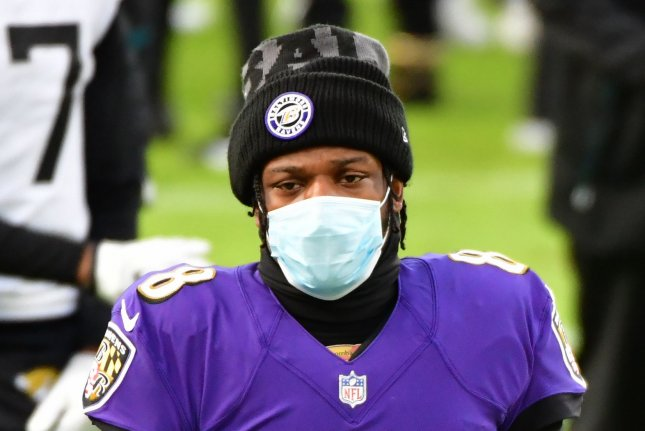 Baltimore Ravens quarterback Lamar Jackson, shown Dec. 20, 2020, has now tested positive for COVID-19 twice in the past eight months. File Photo by David Tulis/UPI