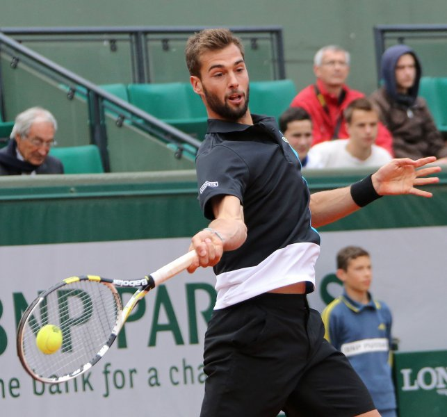 Benoit Paire, shown at this year's French Open, posted an upset win Tuesday that put him in the second round of the Shanghai Rolex Masters. UPI/David Silpa