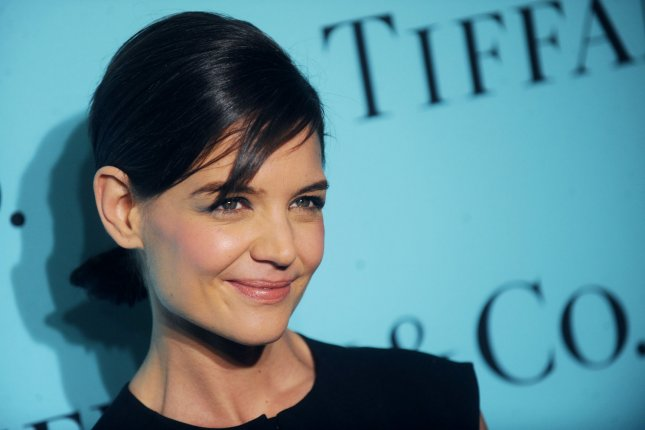 Katie Holmes arrives on the red carpet at the Tiffany Debut of the 2014 Blue Book at the Guggenheim Museum in New York City on April 10, 2014. UPI/Dennis Van Tine