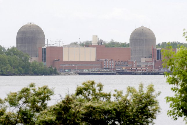 The Indian Point Nuclear Power Plant stands at the base of the Hudson River in Buchanan, New York. Monday, Democratic presidential candidate Bernie Sanders said he wants the facility shut down due to concerns that the plant could pose a threat of catastrophe. File photo by John Angelillo/UPI