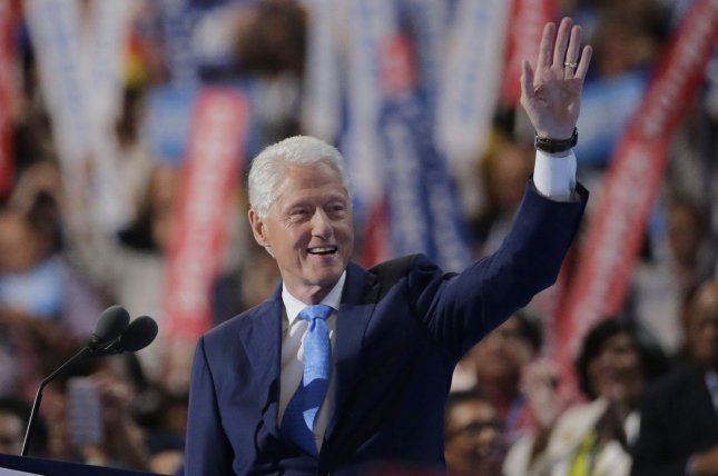 Former President Bill Clinton speaks during day two of the Democratic National Convention at Wells Fargo Center in Philadelphia. He offered a deeply personal portrait of his wife, Democratic presidential nominee Hillary Clinton, as a lifelong advocate for positive hange in people's lives. Photo by Ray Stubblebine/UPI