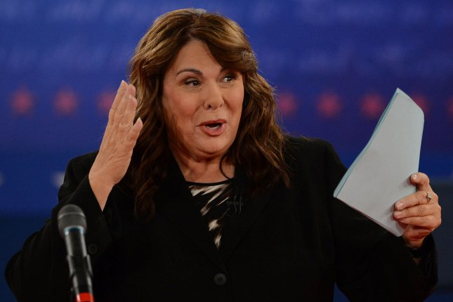 Candy Crowley moderates a presidential debate at Hofstra University on October 16, 2012, in Hempstead, New York. She turns 70 on December 26. File Photo by Pat Benic/UPI