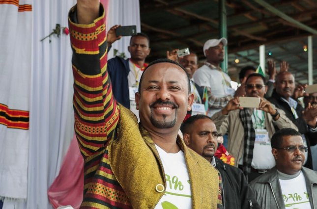 Ethiopian Prime Minister Abiy Ahmed Ali was awarded the Nobel Peace Prize on Friday for efforts to achieve peace and international cooperation, and in particular for his decisive initiative to resolve the border conflict with neighboring Eritrea. Photo courtesy of the Office of the Prime Minister, Ethiopia/UPI